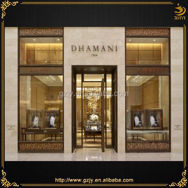 Design Vitrine high grade wooden jewelry shop interior design and jewelry showcase