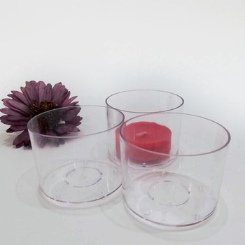 PC plastic candle cups are widely used