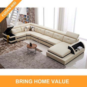 Outstanding Modern Design Big Size Genuine Leather Corner Sofa Luxury Living Room Furniture With Storage Arm Buy Genuine Fashional Leather Corner Sofa Big Size Machost Co Dining Chair Design Ideas Machostcouk