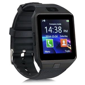 BIS CE Certificate Bluetooth V4.0 2G cheap factory price DZ09 smart wrist watch with camera pedometer function
