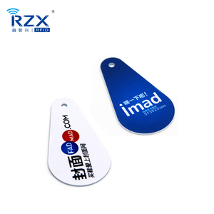 Die Cut 125khz RFID Plastic Small Key Tag T5577 Card With 3mm Hole