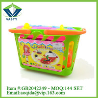 hot selling Kitchen toys food play set tableware toys for children
