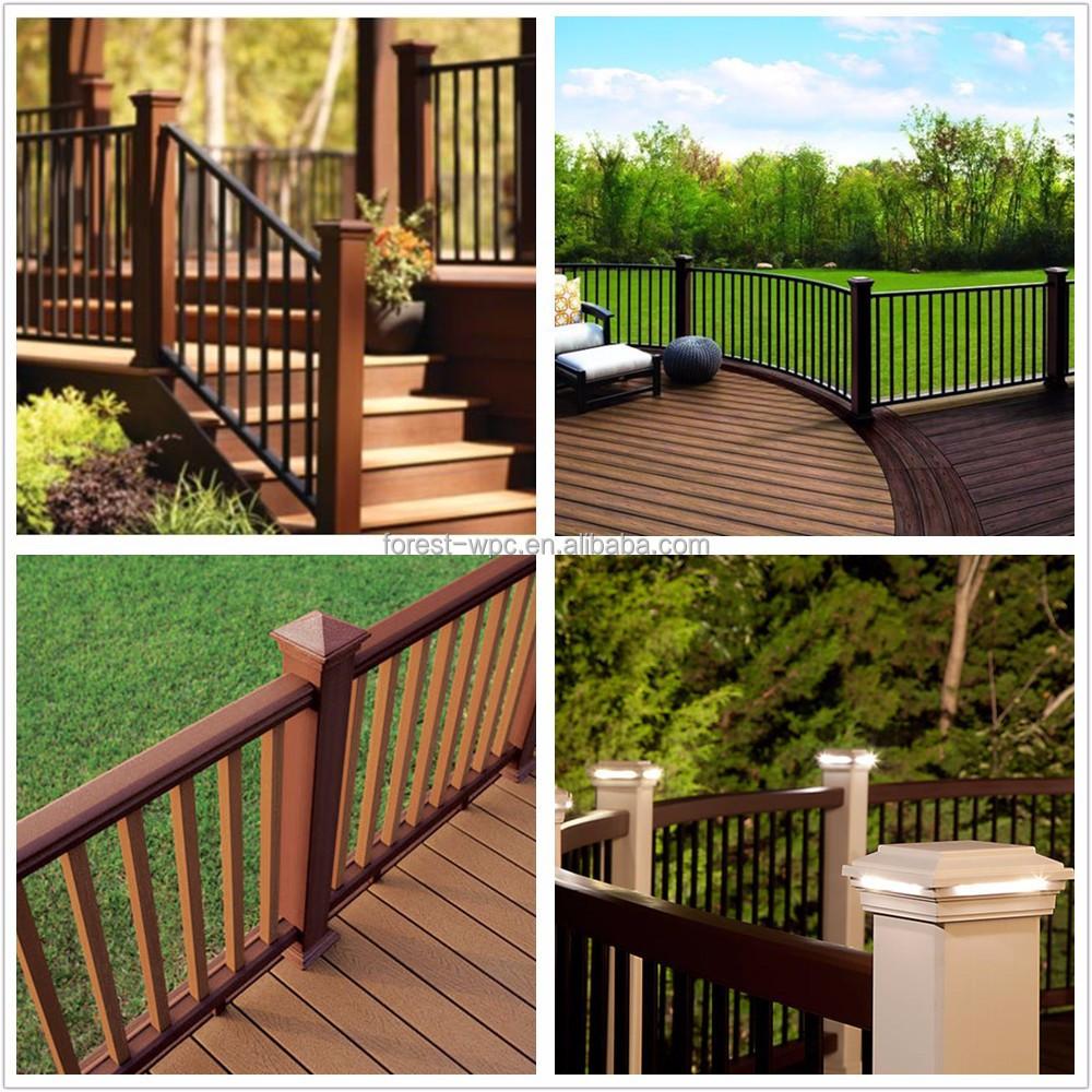 Plastic hout balkon leuningen plastic poster rail balkon reling ...