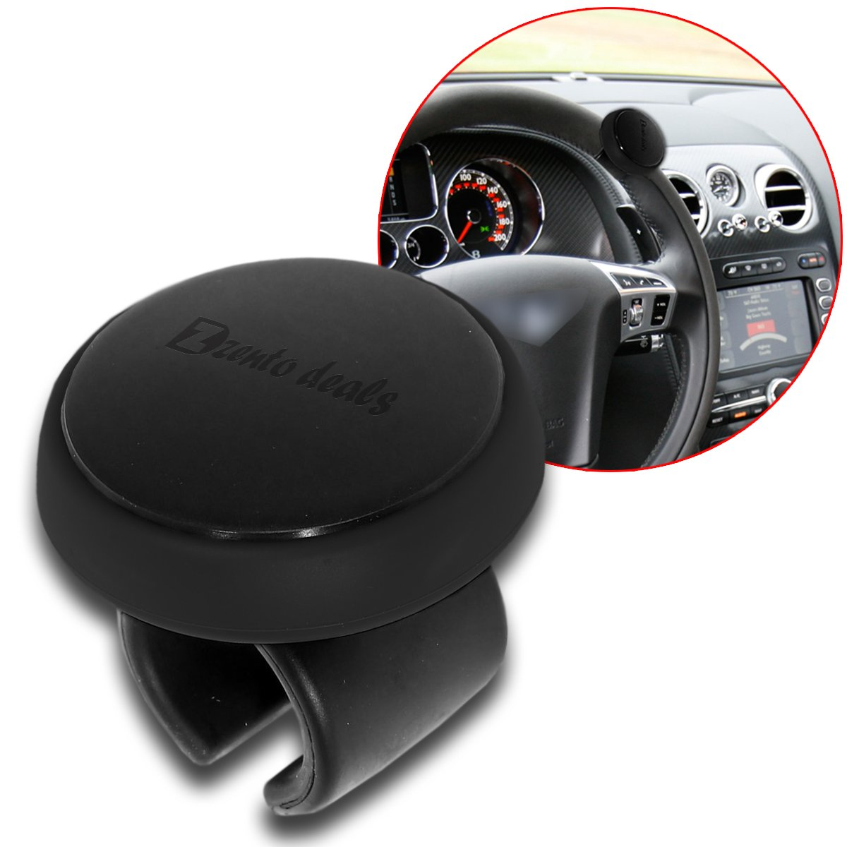 Best Auto Car Steering Wheel Aid Spinner Spin Clamp Knob Ball Booster 85mm*55mm\t Fast Color Electric Vehicle Parts Automobiles & Motorcycles