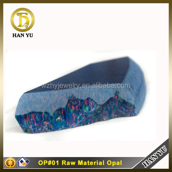 Hot sale synthetic opal cabochon blue color mystic fire opal