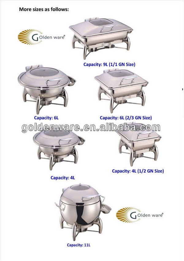 GW-10-11B-GL 11L New High Quality promotion wholesale chafing dishes