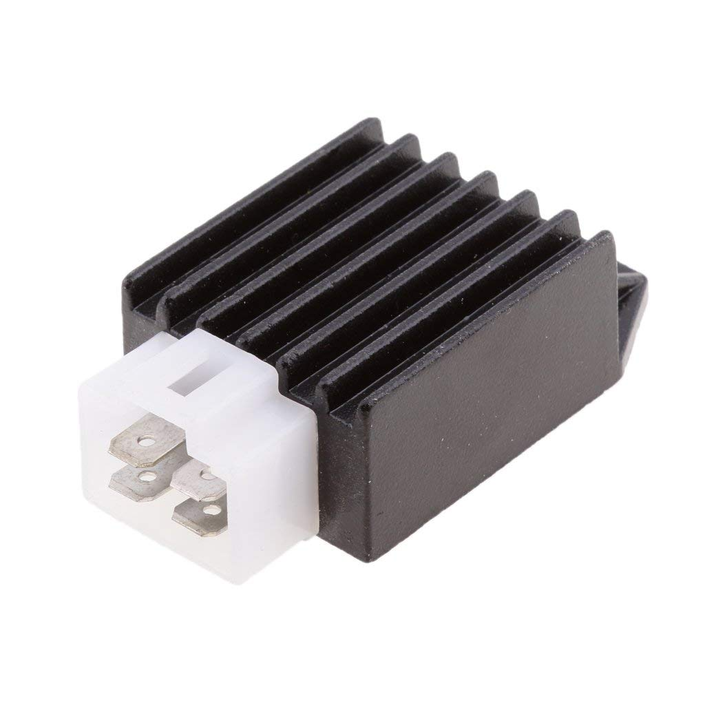 Dovewill Motorcycle 4pin 12V Voltage Regulator Rectifier for GY6 ATV 50/110/125/150cc