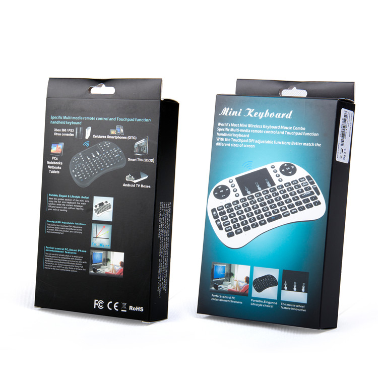Excel Digital Touch-pad Backlit 2.4G Air Mouse Keyboard Mini Keyboard i8