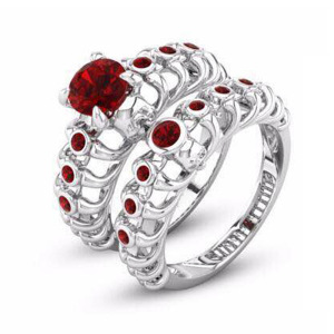 Delicate Unique Rose Color CZ Fashion Women Wedding Ring Set Floral Design Bridal accessories for jewelry Hollow Rough Texture