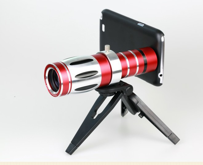 20x zoom telephoto lens for galaxy s5 s4 note 3 with phone case