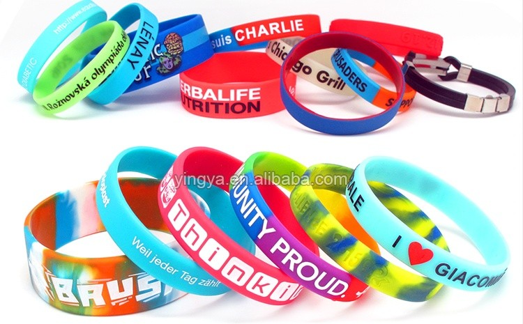 Customized bulk cheap glow in the dark silicone wristband