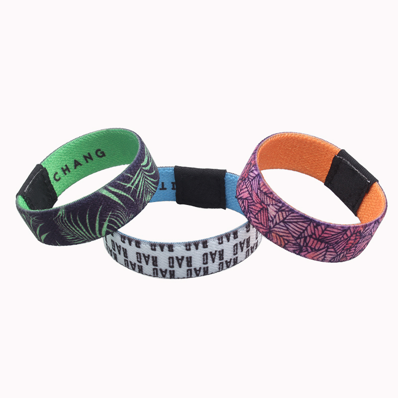 The cheapest fabric custom polyester elastic wristband for sale