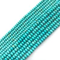 A Grade Natural Turquoise Gorgeous Semi-precious Gemstone Faceted Rondell Beads Wholesale