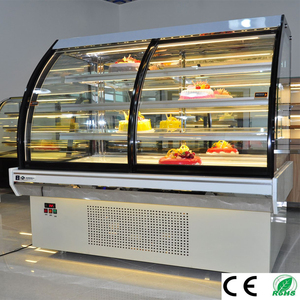 Air cooling mini cake showcase/commercial Cake display refrigerator cabinet with Front Sliding Door