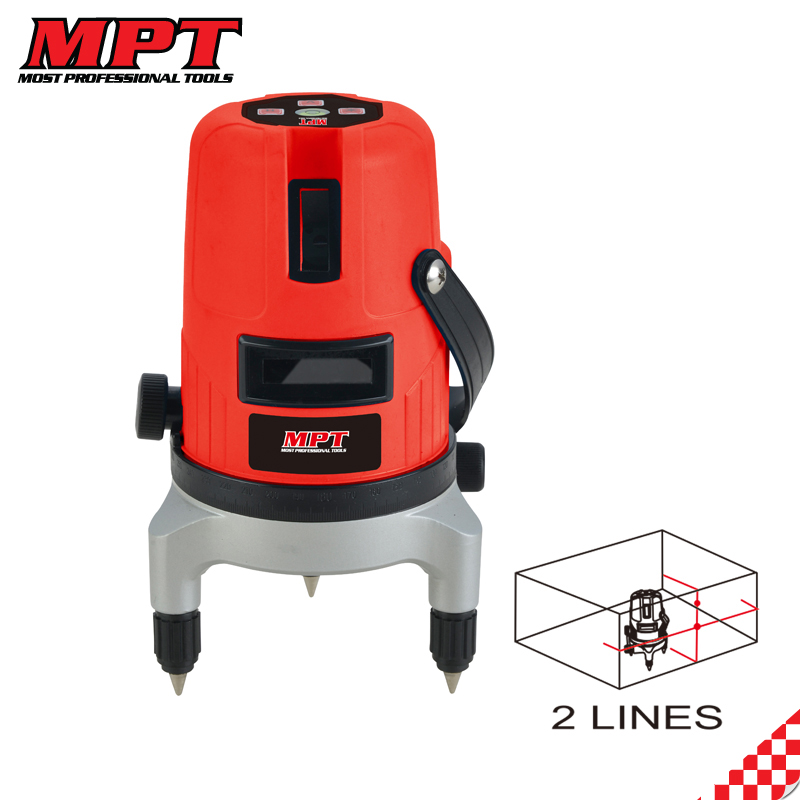 MPT 635nm green cross line laser level