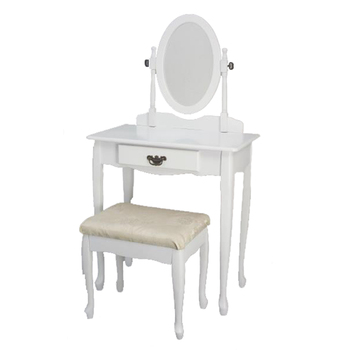 New Design Home Goods Bedroom Furniture Wooden Mdf Dressing Table With Mirror And Stool