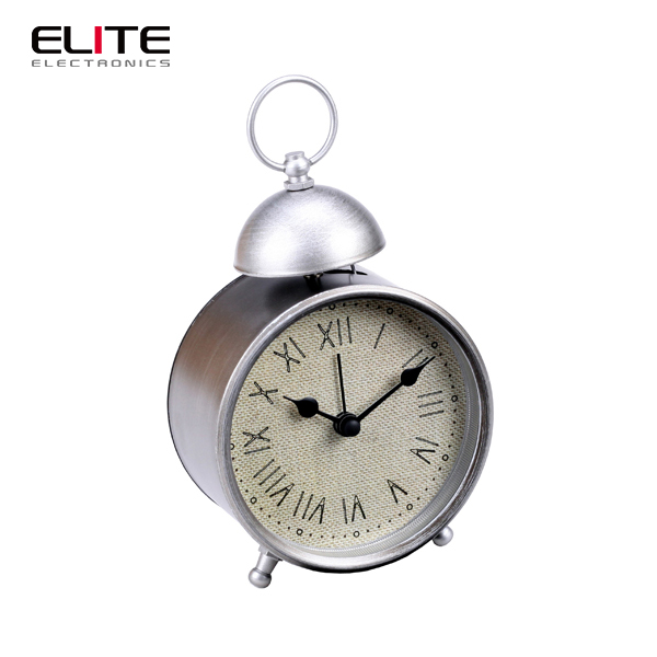 home goods single bell quartz table alarm clock in antique style