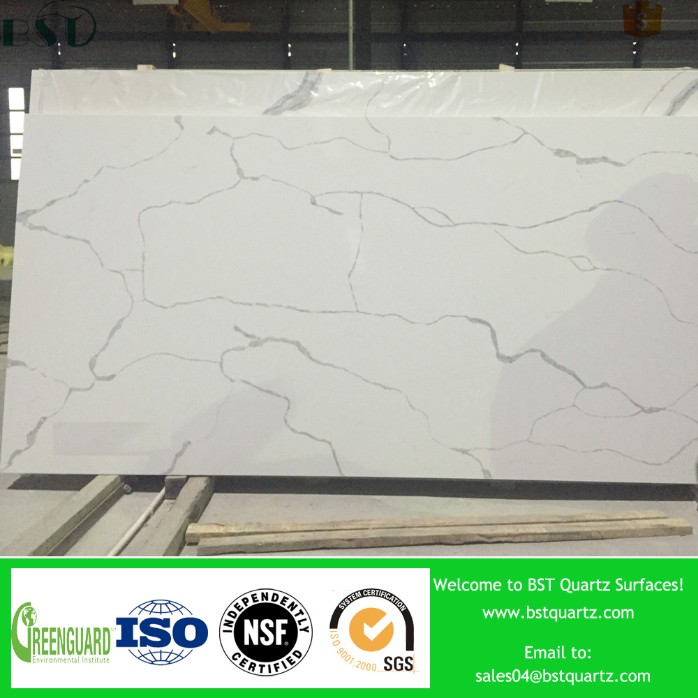 Well Polished Natural wholesale quartz stone slabs