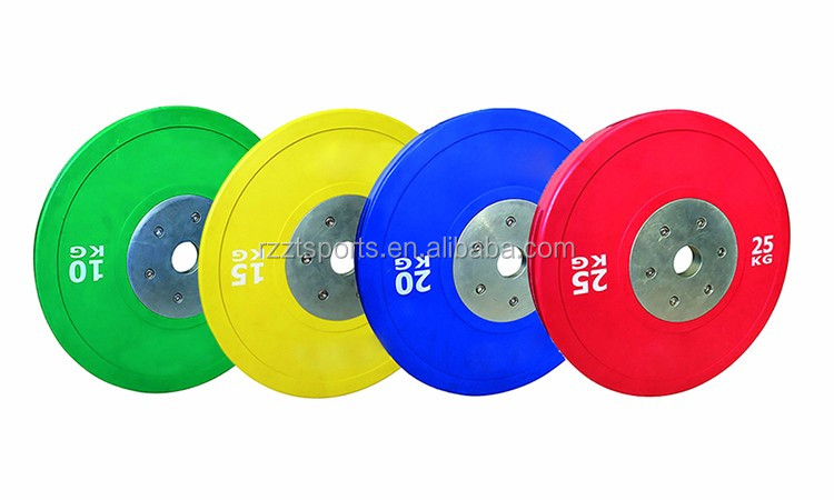 b23978b520f High grade solid Virgin Rubber Competition Bumper Plates with Steel Hub. highly  durable cheap 5 10 25 45 pound bumper weight plates