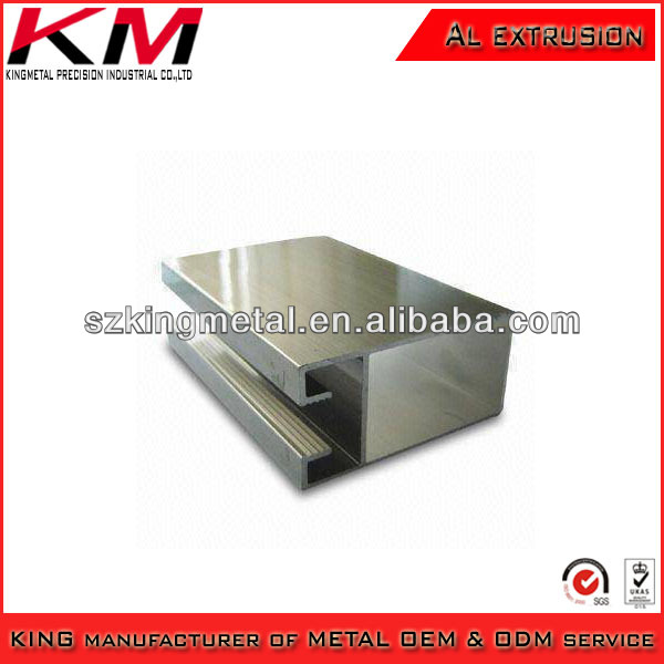 Al profile extrusion flat aluminum bars with clear surfaces