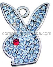 BRICOLAGE <span class=keywords><strong>Strass</strong></span> Tête De Lapin Pendentif Charme