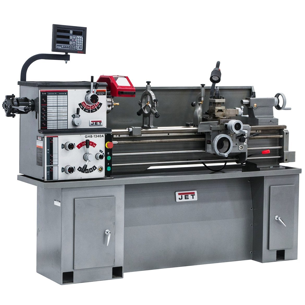 JET GHB-1340A Lathe with C80 DRO, TAK and COLLET CLSR