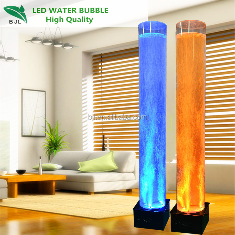Led Floor Night Color Change Fish Water Bubble Lamp - Buy ...