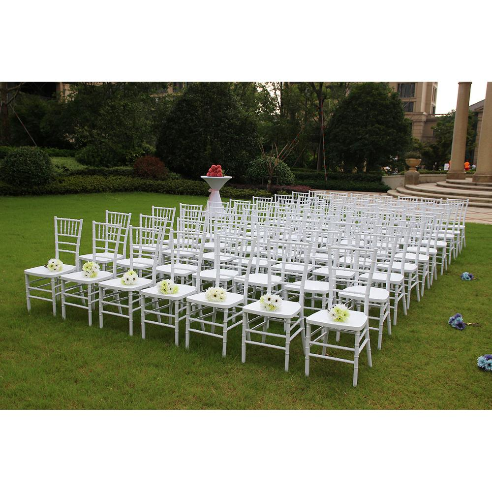 White Resin Wedding Garden Chairs For Wedding Reception For Sale