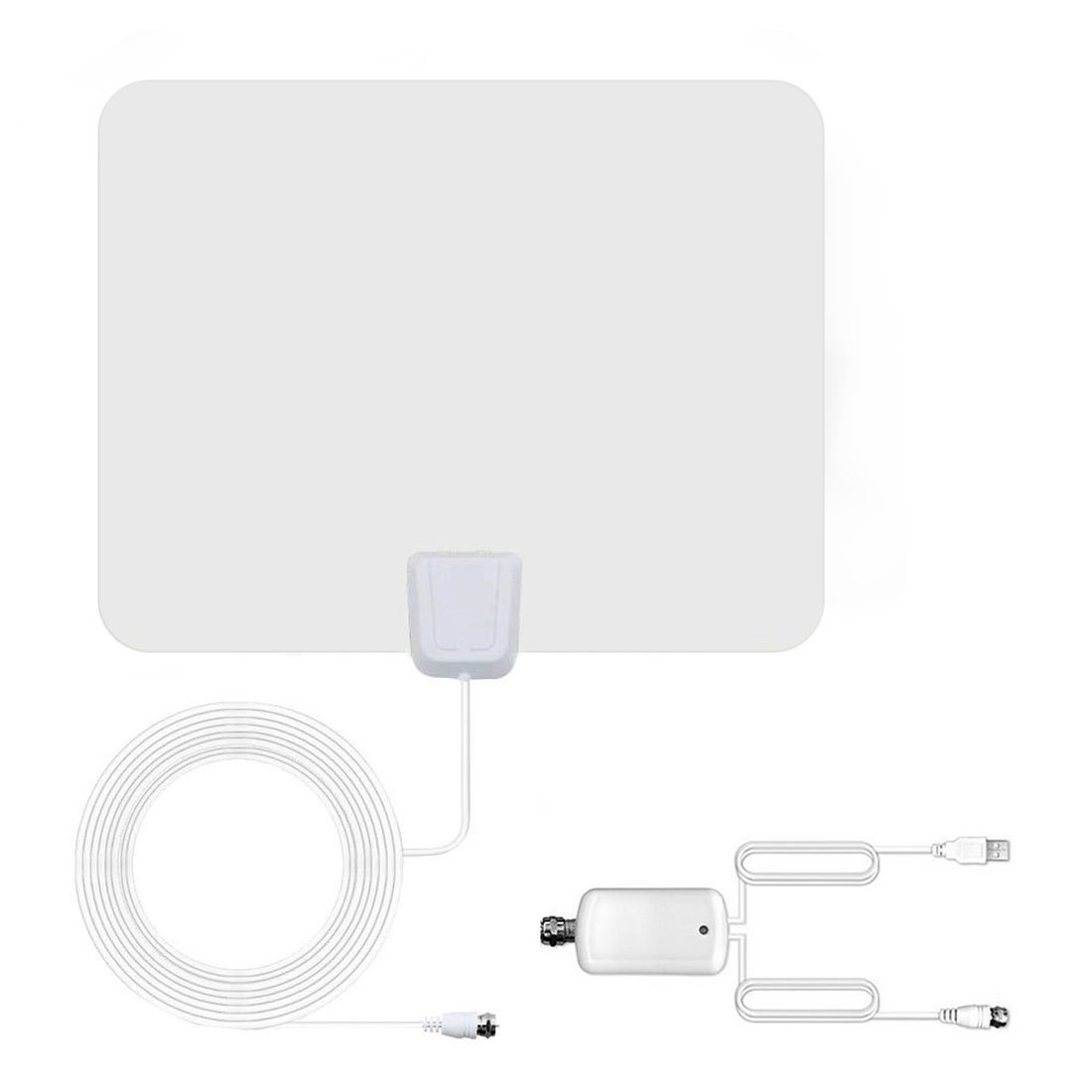 TV Antenna Upgraded 2018 Version Over 60 Miles Long Range Digital HDTV Antenna with Detachable Amplifier Signal Booster Indoor/Outdoor 16FT Coaxial Cable Support Most TV Channel