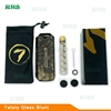 100% Authentic 7pipe Twist Glass Blunt,V12 Plus Glass Blunt Universal Adapter 7 pipe Twisty Glass Blunt herb grinder