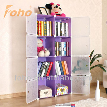 DIY Portable Bookshelves With Door FH AL0030 8