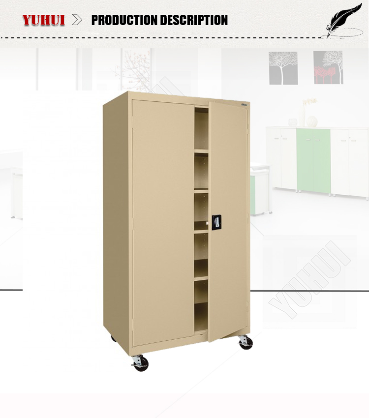 Movable Cabinets With Wheels Steel Double Door Cabinet