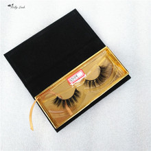 Diamond shape eyelashes box 100% real mink fur eyelash with private label package