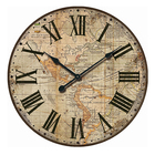 rustic home Wall Decor world map round wooden wall clock