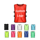 Cheap high quality custom reversible soccer wear training vests football bibs with number