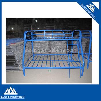 Blue Metal Triple Children Sleeper Bunk Bed Frame Buy Bunk Bed No