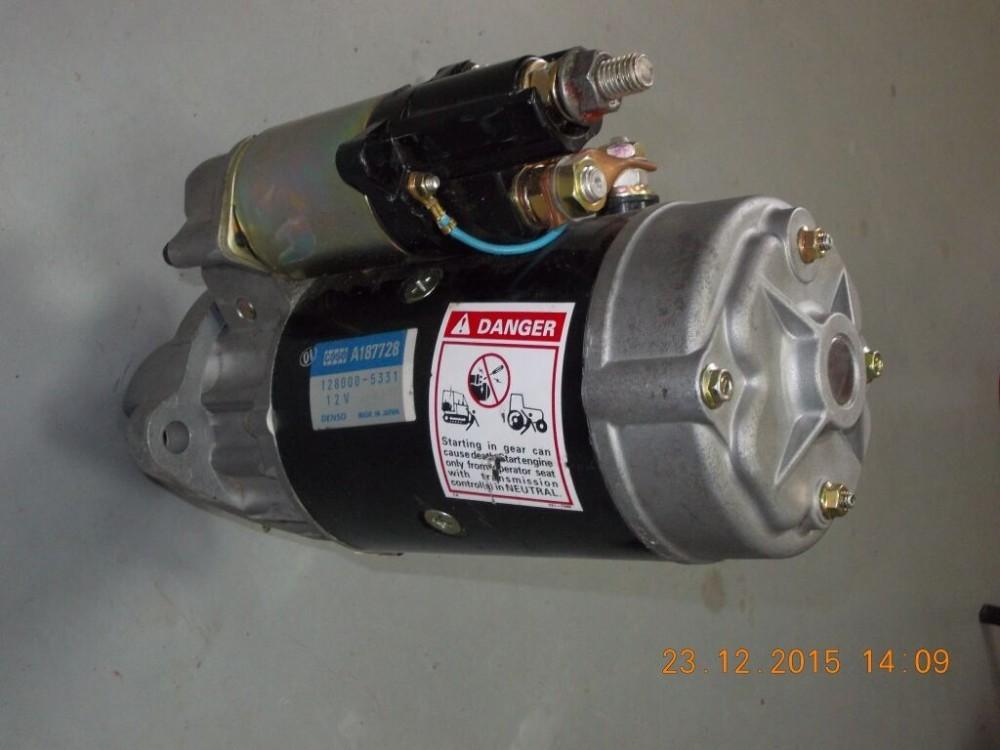 12v truck starter motor denso 128000 5331 case tractor 6 for Cummins starter motor cross reference