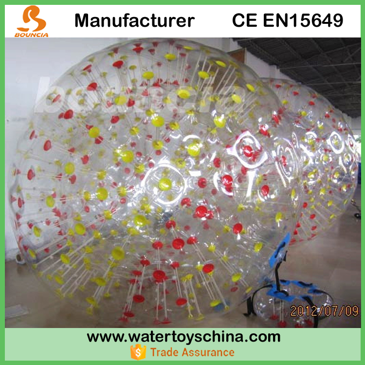 1.0mm PVC Inflatable Zorb Ball For Walking On Grass