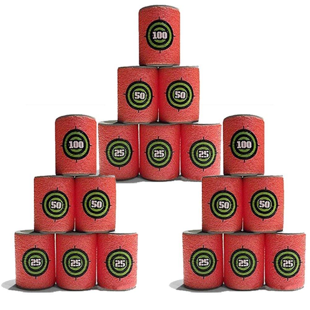 Adealink 18pcs Bullet Targets Shot Dart Nerf target for Nerf N-Strike Elite Retaliator Series Blasters Toy Gun Soft Bullet Annex