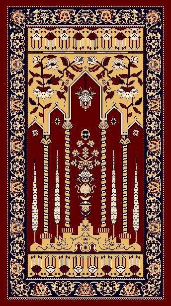 Ic Mosque Carpet Prayer Rug Masjid Muslim
