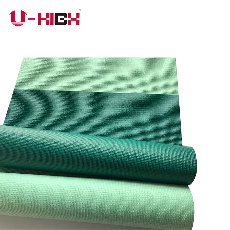 Single Color PVC Yoga Mat Manufacturer For Yoga Exercising
