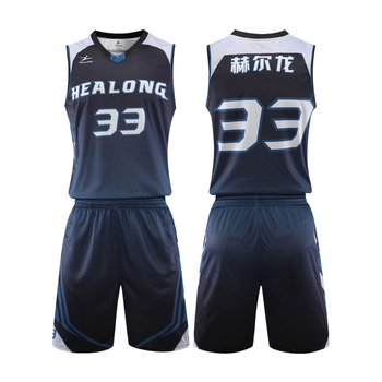 HEALONG custom sublimation printing  basketball jersey  design basketball wear latest basketball jersey design 2018