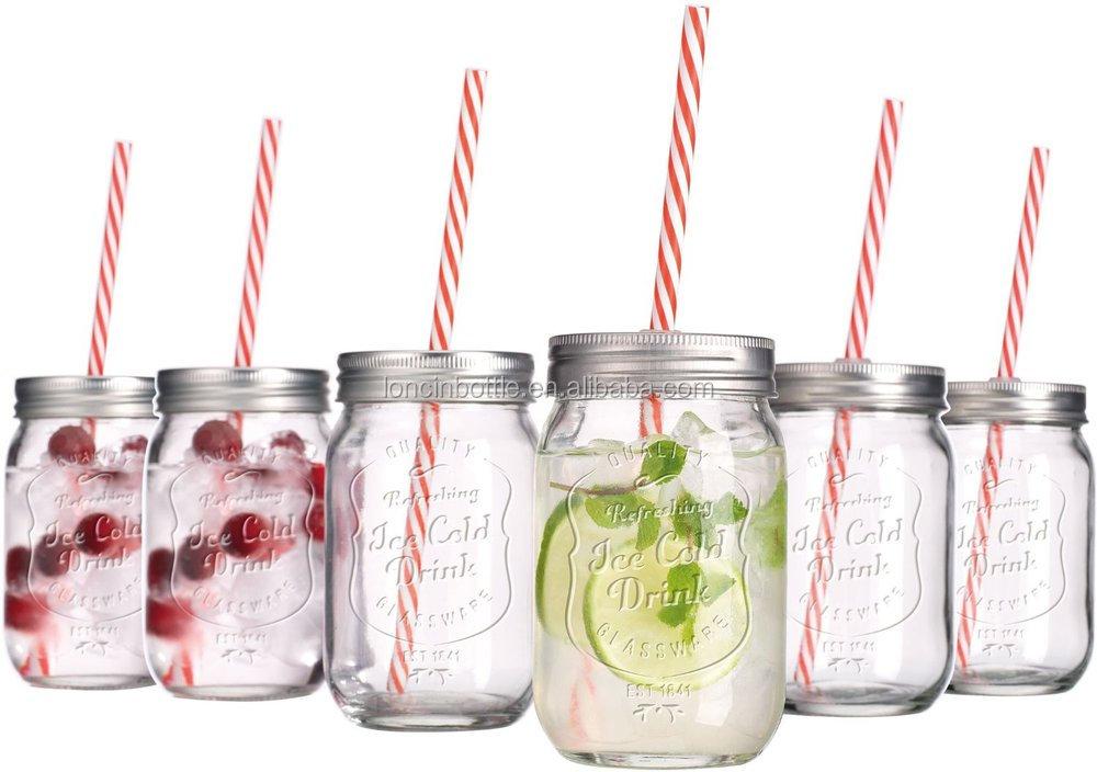 double wall plastic mason drinking jar mason jar with metal cap plastic drinking - Mason Jar Glasses