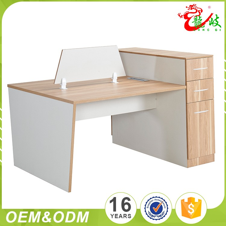 2017 New Style Modular Modern Two People Office Table Parion Cubicle 2 Person Workstation