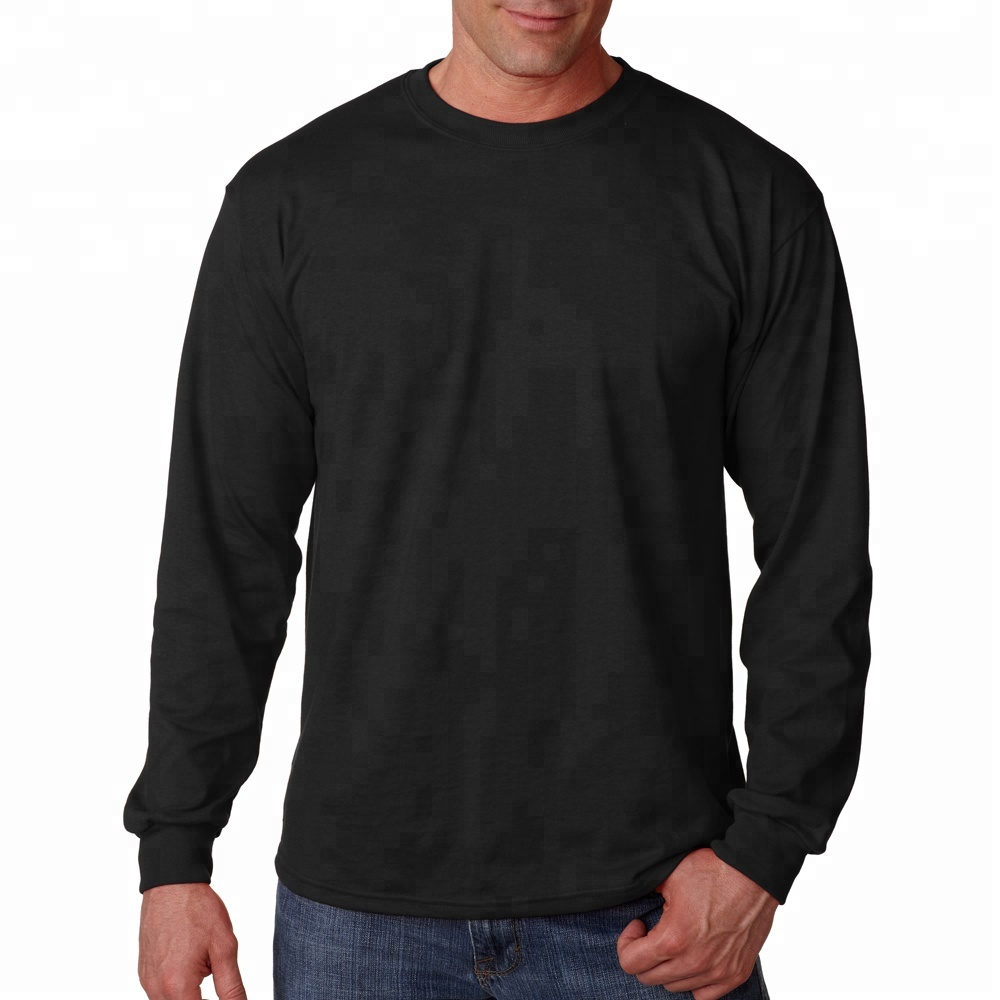 100% Cotton Logo Personalized Long Sleeve T-Shirt