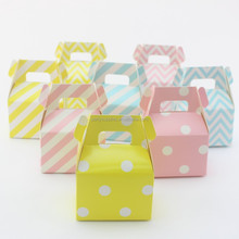 Party Supplies Gable Gift Boxes Birthday Wedding Favor Candy Food Boxes