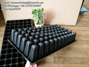 72 cell 88mm deep root ps type plastic nursery seedling germination tray for sugarcane seed propagation