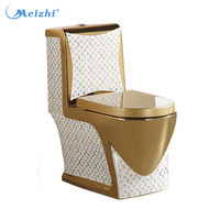 Golden luxury colorful toilet chair ceramic toilet seat