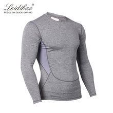 OEM factory gym fitness custom compression long sleeve shirts
