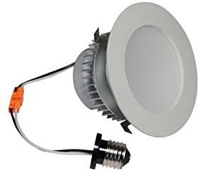 American Lighting EP4-E26-30-WH E-Pro 4-Inch Downlight, 3000K Color Temp, E26 Base, 7.5W, 525 Lm, White Trim by American Lighting
